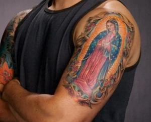 virgen de guadalupe tattoo design